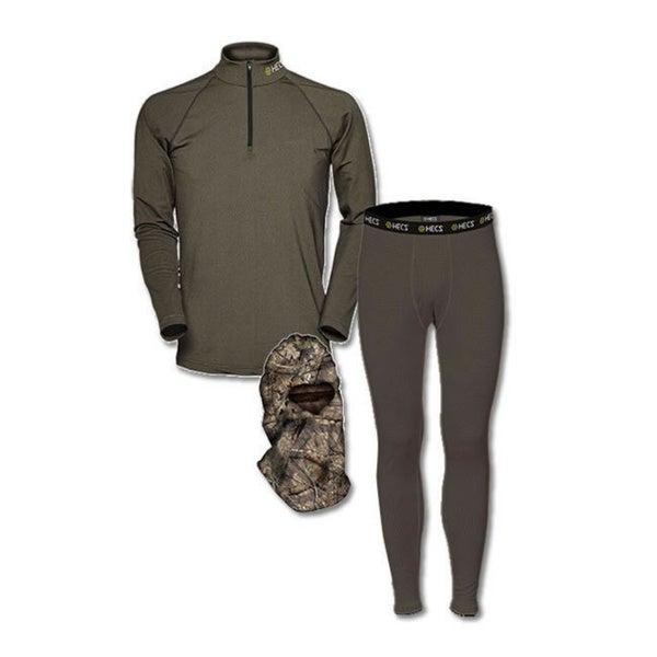 HECS Olive Green Base Layer 3-Piece Pants and Shirt