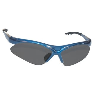 SAS Safety Diamondback Blue Frame/Shade Lens Safety Glasses