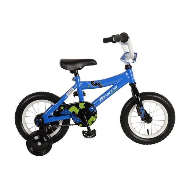 Piranha Pronto Kids' Bike, 12 inch wheels, 9 inch frame, Boy's Bike, Blue
