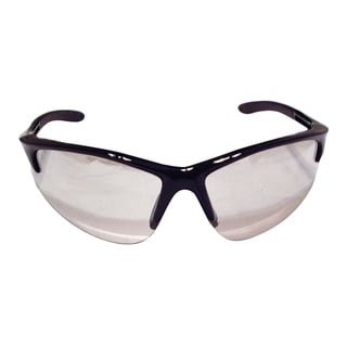 SAS Safety Db2 Black Frame Clamshell Safety Glasses with Indoor/Outdoor Lens