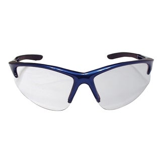 Db2 Blue Frame and Clear Lens Clamshell Safety Glasses