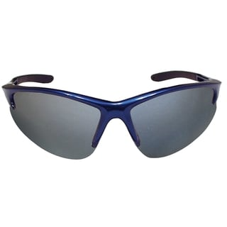 Db2 Blue Frame and Mirror Lens Clamshell Safety Glasses