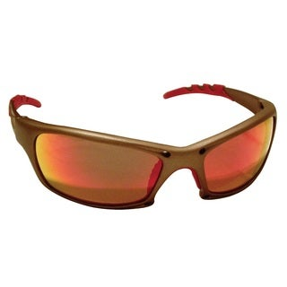 GTR Gold Frame and Iridium Mirror Lens Safety Glasses