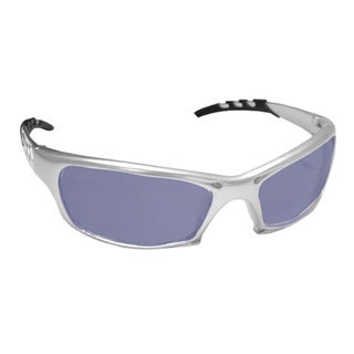 SAS Safety Protective Gear GTR Silver/Ice Blue Safety Glasses
