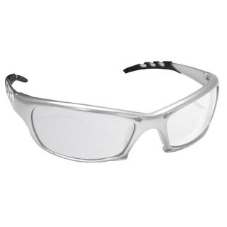 Silver-framed Safety Glasses