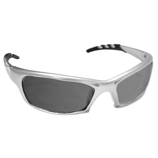 GTR Silver Frame Shaded Lens Safety Glasses