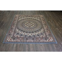 Blue Kerman Persian Area Rug - 8' x 11'