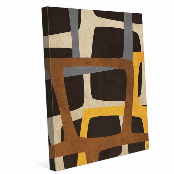 Shop Brown And Yellow Turtle Back Graphic On Canvas On Sale Free