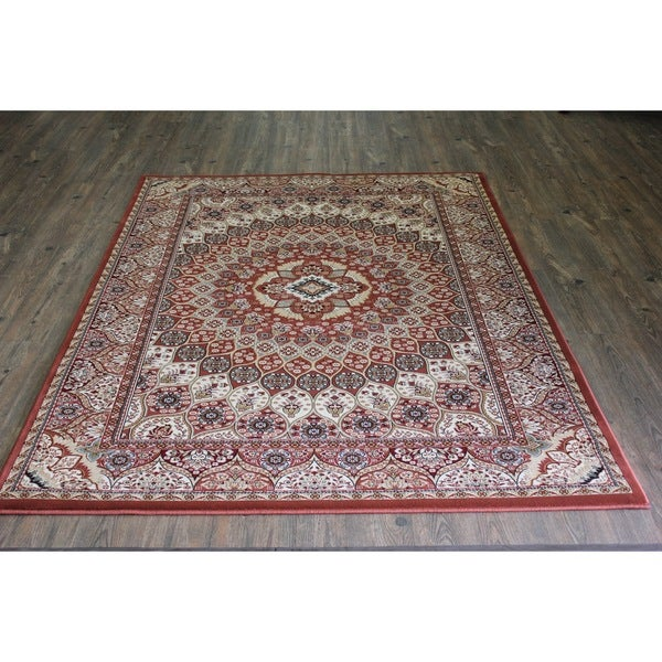 Rust Kerman Persian Area Rug (8' x 11')