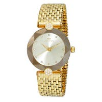 Oniss ON8777 Women's Goldtone/Gold Swiss 'Facet II' All Stainless Steel Watch