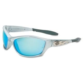 Harley Davidson Gunmetal Silver and Blue Safety Eyewear