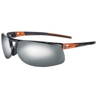 Harley Davidson Orange Black Frame Mirror Lens Safety Glasses