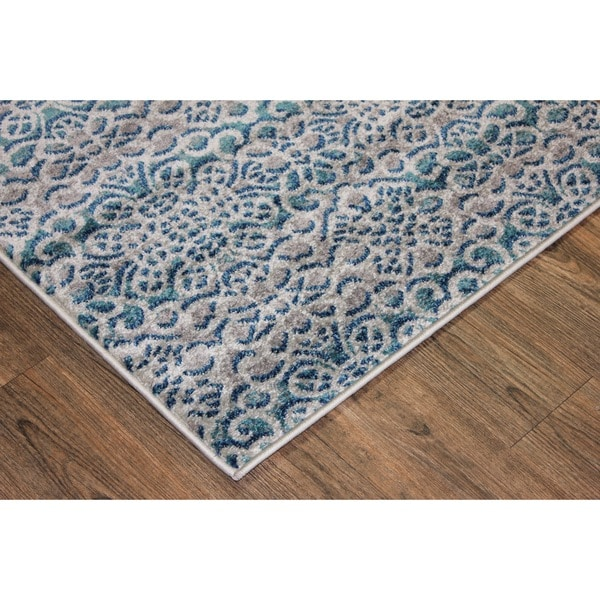 Shop Make In Turkey Silver, Grey, Blue, Turquoise Area Rug