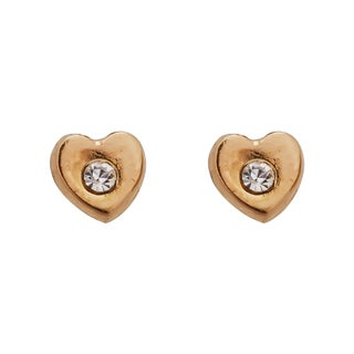 Decadence 14k Yellow Gold High-polished Open Laser Flower Screw Back Stud Earring with CZ
