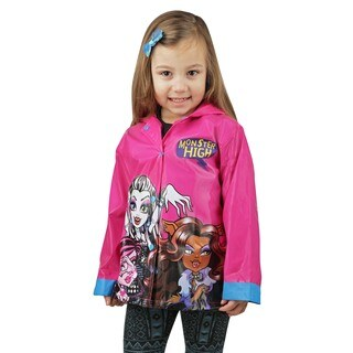 Toddler/Little Kids Monster High Black Raincoat