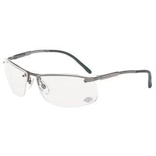 Harley Davidson Silver Frame Clear Lens Safety Eyewear