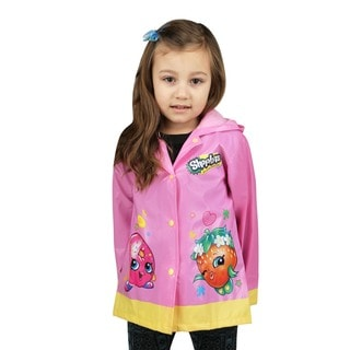 Shopkins Girls Pink Raincoat (Toddler / Little Kids)
