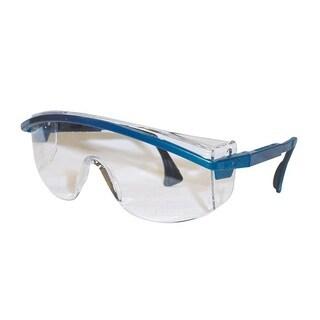 Uvex 3000 Astrospec Clear Lens/Blue Frame Safety Glasses