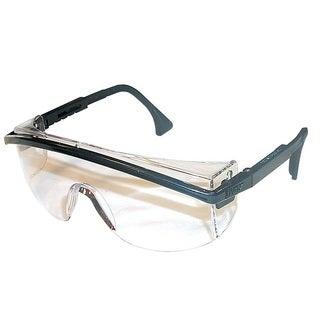 Black Frame Clear Safety Glasses
