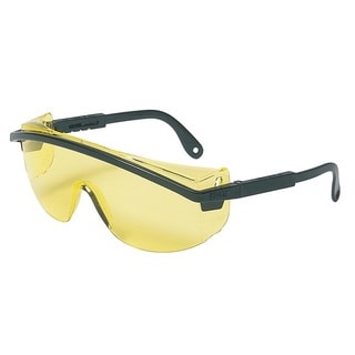 Black Frame Amber Lens Safety Glasses