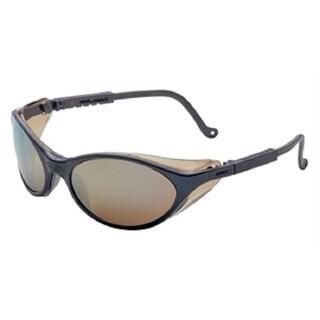 Uvex Bandit Safety Glasses Slate Blue and Mirror Lenses