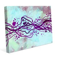 Crystal Amethyst Current Graphic on Canvas
