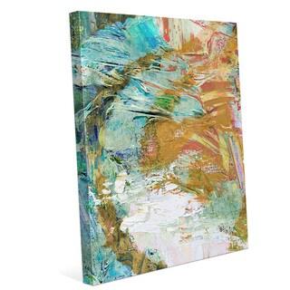 Finding Balance Orange and Aqua Graphic on Canvas