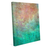 Teal Vision Graphic on Canvas