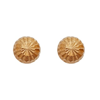 Decadence 14k Yellow Gold Diamond-cut 3.5-millimeter Half-ball Ball Stud Earrings