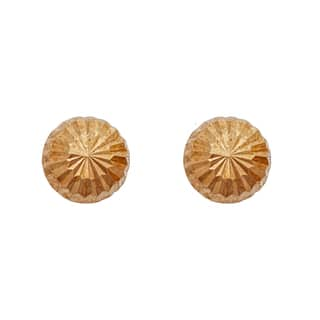 Decadence 14k Yellow Gold Diamond-cut 3.5-millimeter Half-ball Ball Stud Earrings|https://ak1.ostkcdn.com/images/products/12194374/P19042818.jpg?impolicy=medium