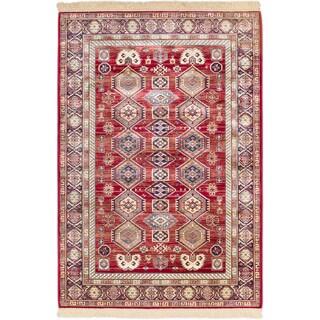 Ecarpetgallery Shiravan Red Rug (5'1 x 7'7)
