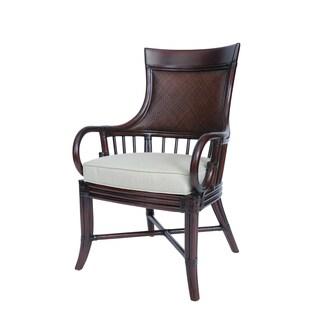 Cambridge Rattan White Cushion Arm Chair