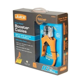 16 Foot 6 Gauge Juice Booster Cables W/ Cinch-lock