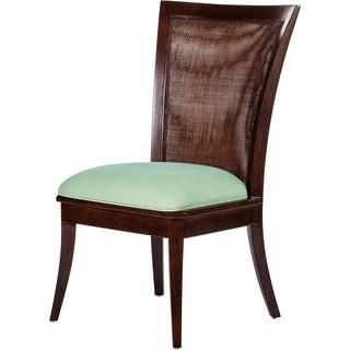 Venice Woven Back Blue Cushion Side Chair