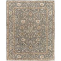 Oxon Camel/Grey Hand-knotted Wool Area Rug - 10'0 x 14'0