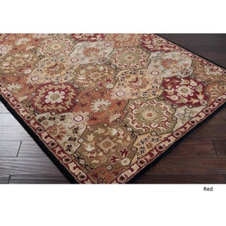 Hand-Tufted Coliseum Wool Area Rug (12' x 15') (Option: Red)