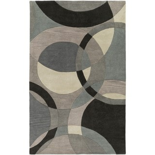 Hand-Tufted Contemporary Mayflower Circles Wool Rug (12' x 15')