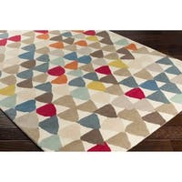 Strick & Bolton Lully Hand-tufted New Zealand Wool Geometric Area Rug