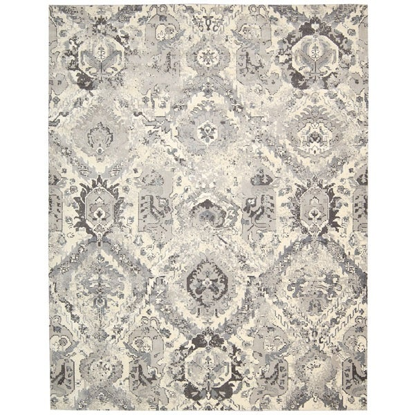 Nourison Twilight Ivory/Grey Area Rug (12' x 15')