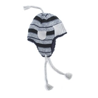 Muk Luks Men's Acrylic/ Polyester Furpa Striped Trapper Hat