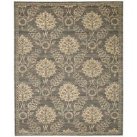 Nourison Silk Elements Graphite Area Rug (12' x 15') - 12' x 15'