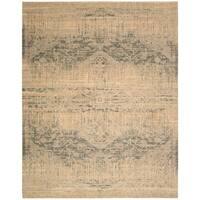 Nourison Silk Elements Beige Area Rug (12' x 15') - 12' x 15'