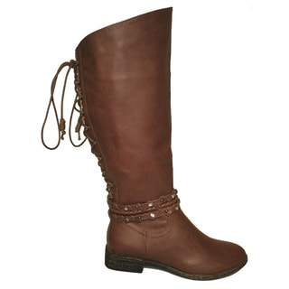 Lily Lace Brown Riding Boot (China)