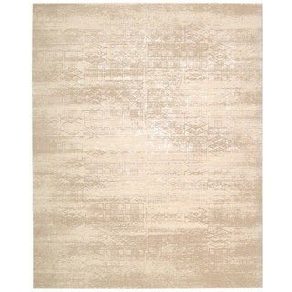 Nourison Silk Elements Bone Area Rug (12' x 15') - 12' x 15'