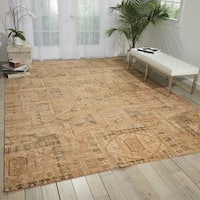 Nourison Silk Elements Beige Area Rug (12' x 15')