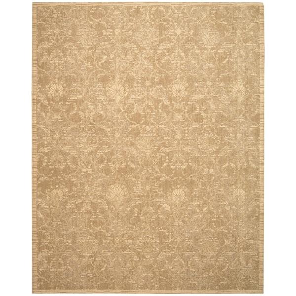 Nourison Silk Elements Sand Area Rug (12' x 15')