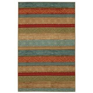 "Mohawk Home Soho Samsun Batik Stripe Multi (7'6"" x 10')"
