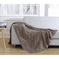 De Moocci Pleated Knitted Throw