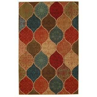 """Mohawk Home Soho Riza Tile Fret Multi - 7'6"""" x 10'"""