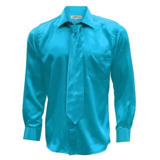 Ferrecci Men's Satin Dress Shirt, Necktie and Hanky Set|https://ak1.ostkcdn.com/images/products/12194708/P19043036.jpg?impolicy=medium